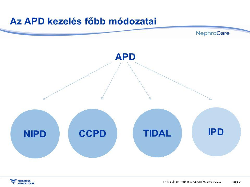 Az APD kezelés főbb módozatai