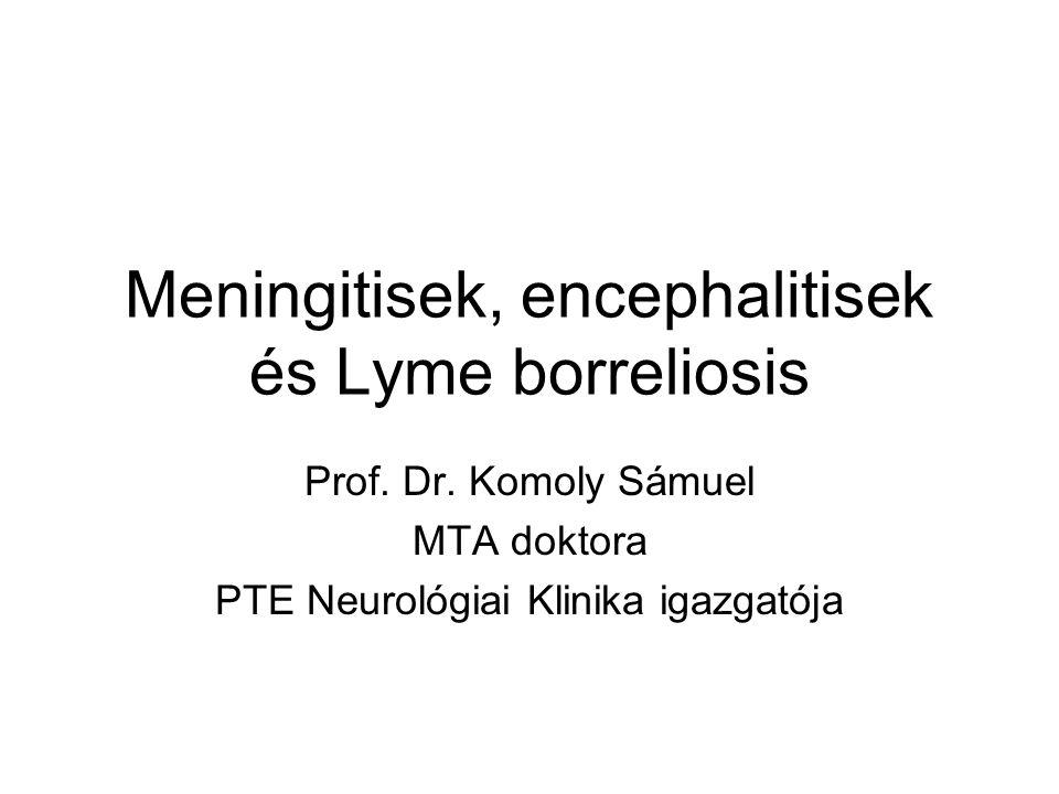 Meningitisek, encephalitisek és Lyme borreliosis