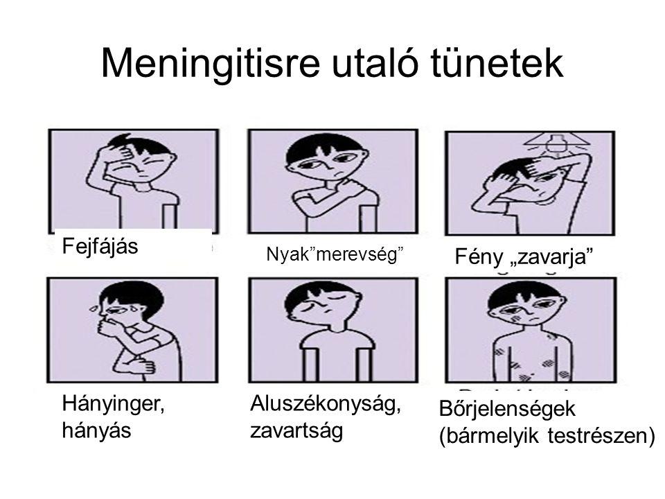 Meningitisre utaló tünetek