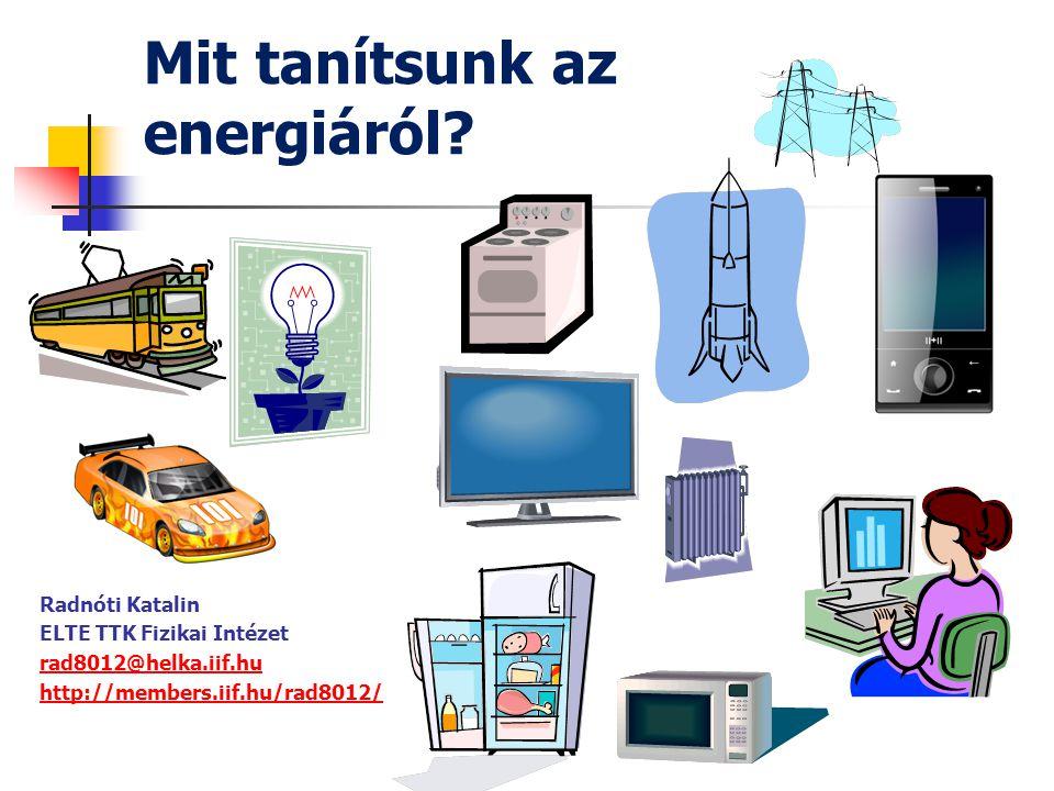 Mit tanítsunk az energiáról