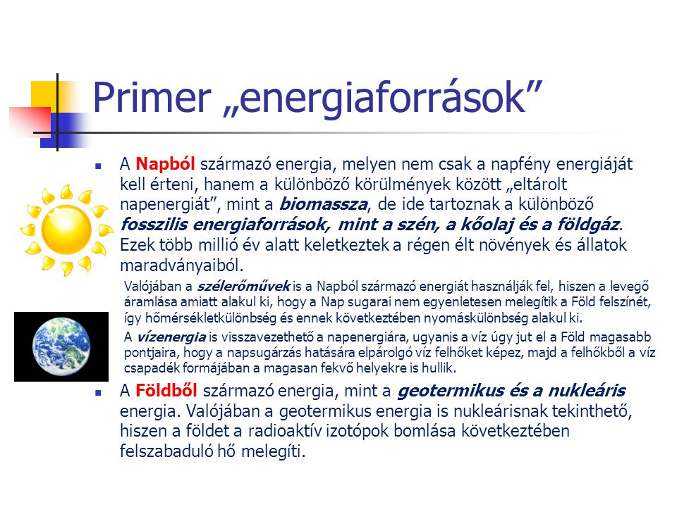 """Primer """"energiaforrások"""