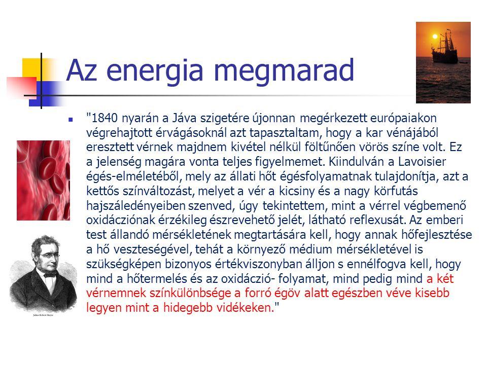 Az energia megmarad