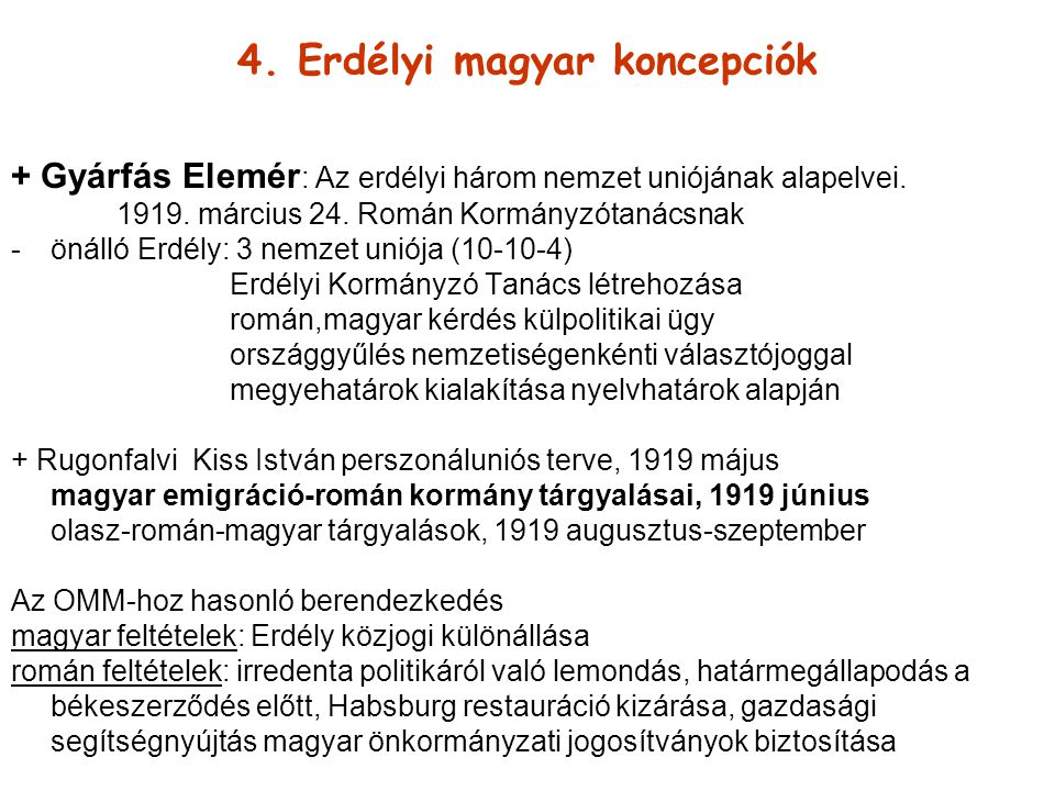 4. Erdélyi magyar koncepciók