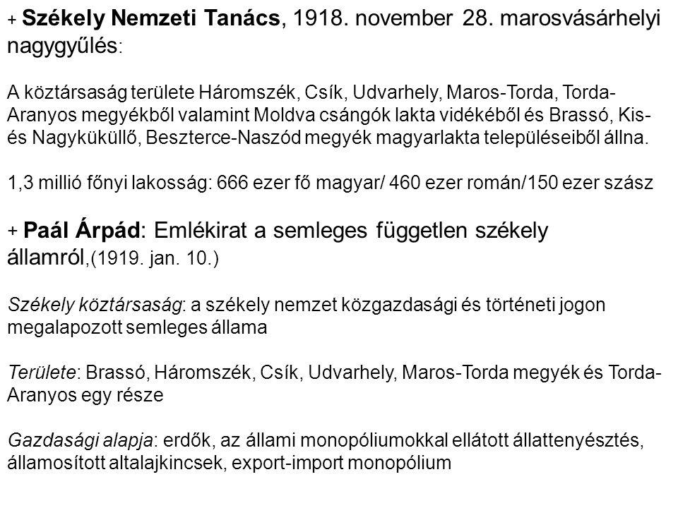 + Székely Nemzeti Tanács, 1918. november 28