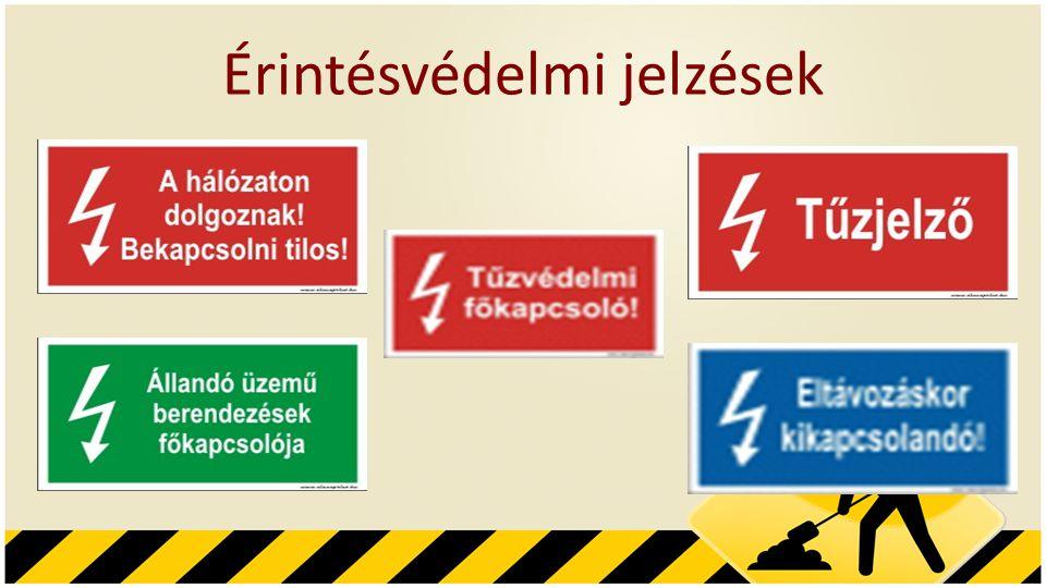 Érintésvédelmi jelzések