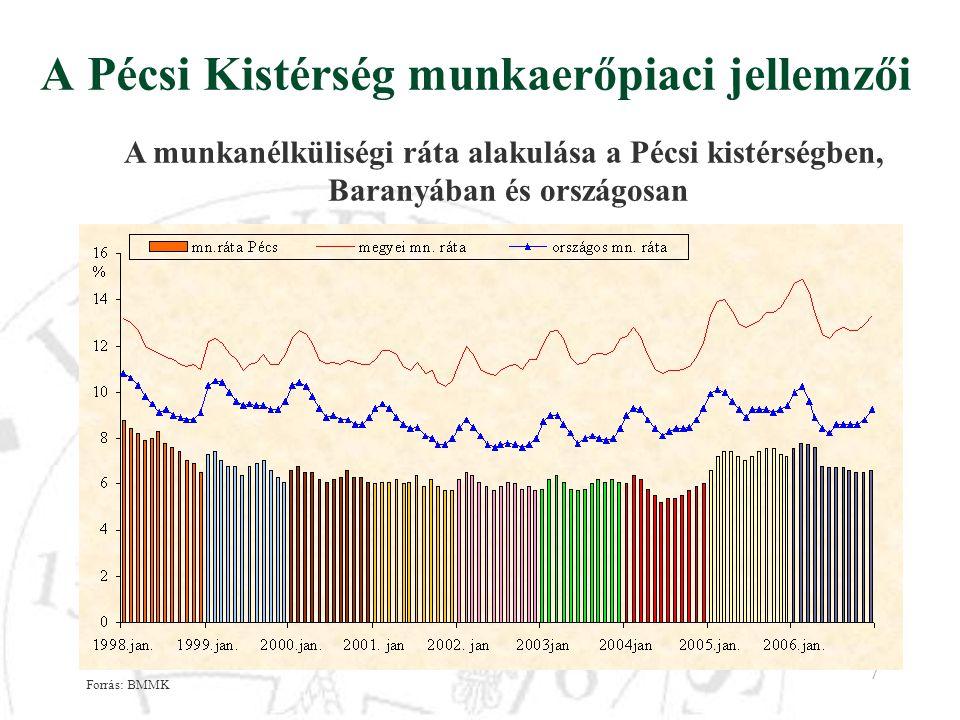 A Pécsi Kistérség munkaerőpiaci jellemzői