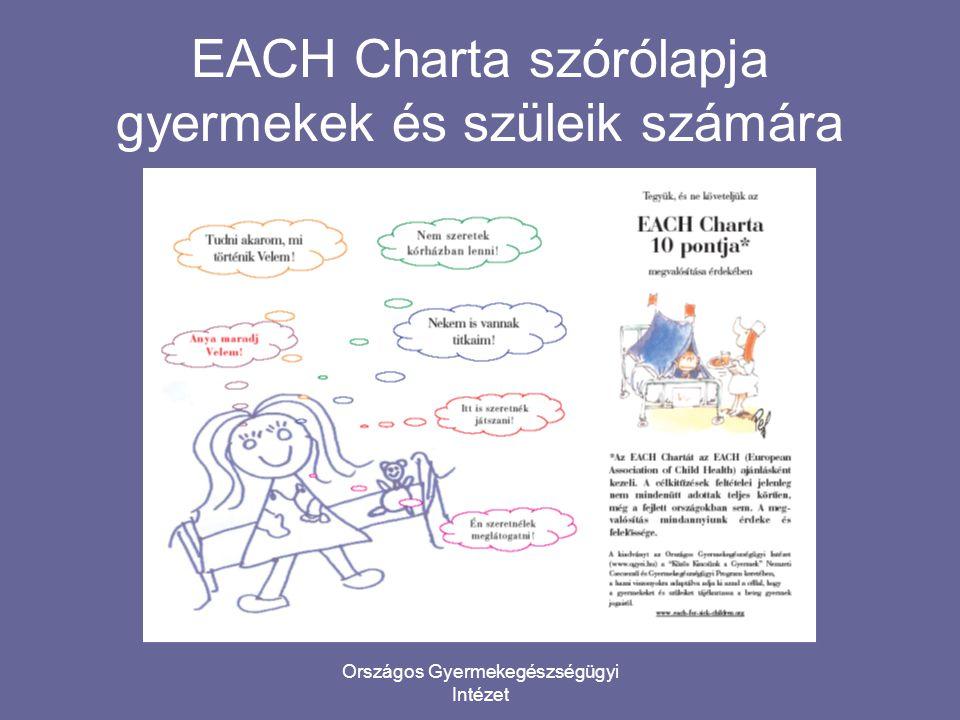EACH Charta szórólapja gyermekek és szüleik számára