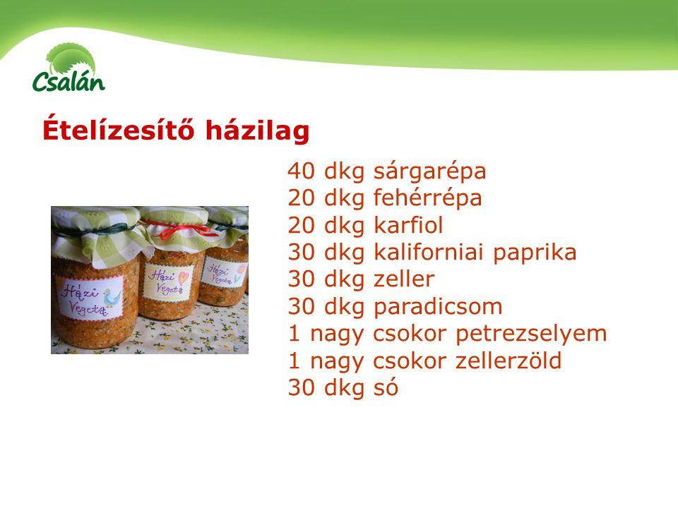 Ételízesítő házilag 40 dkg sárgarépa 20 dkg fehérrépa 20 dkg karfiol