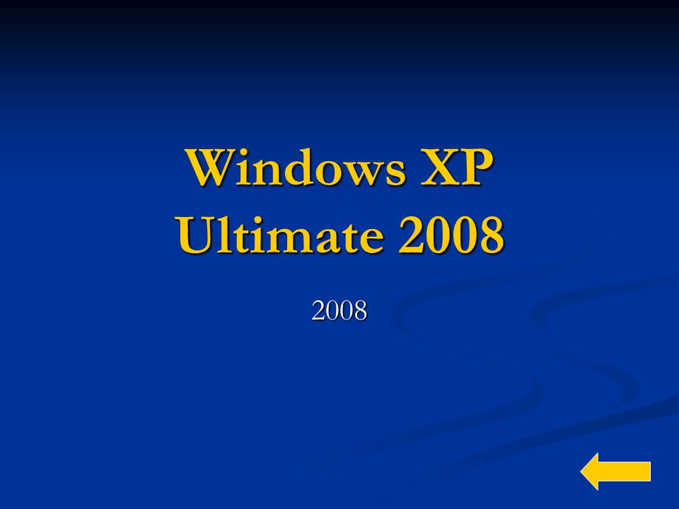 Windows XP Ultimate 2008 2008