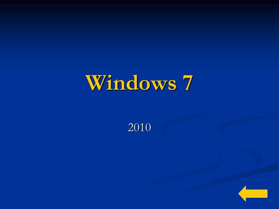 Windows 7 2010