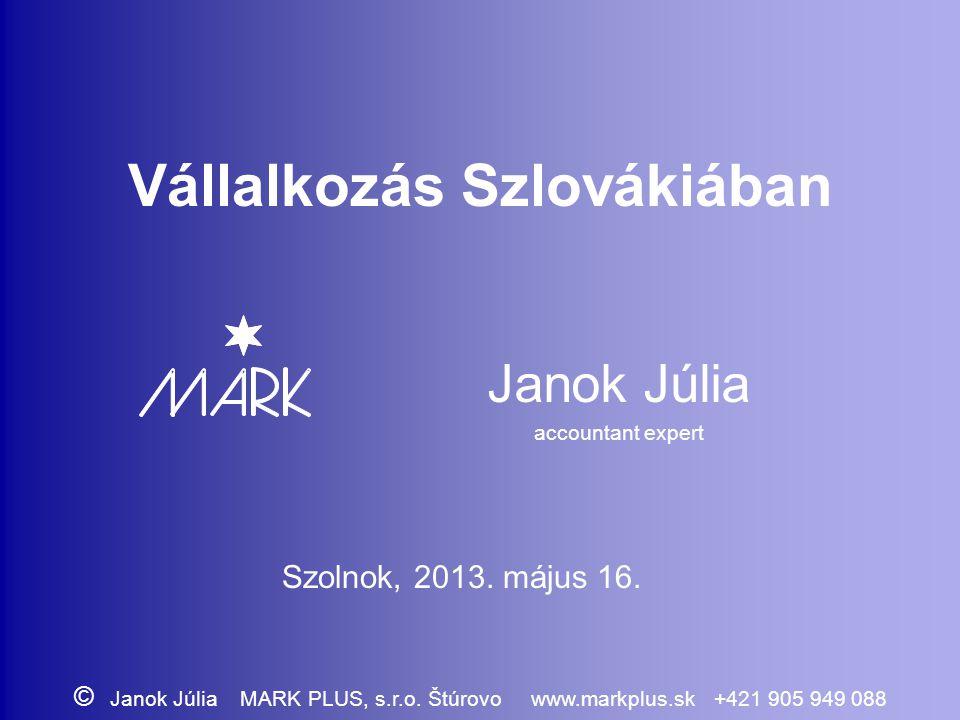 Vállalkozás Szlovákiában