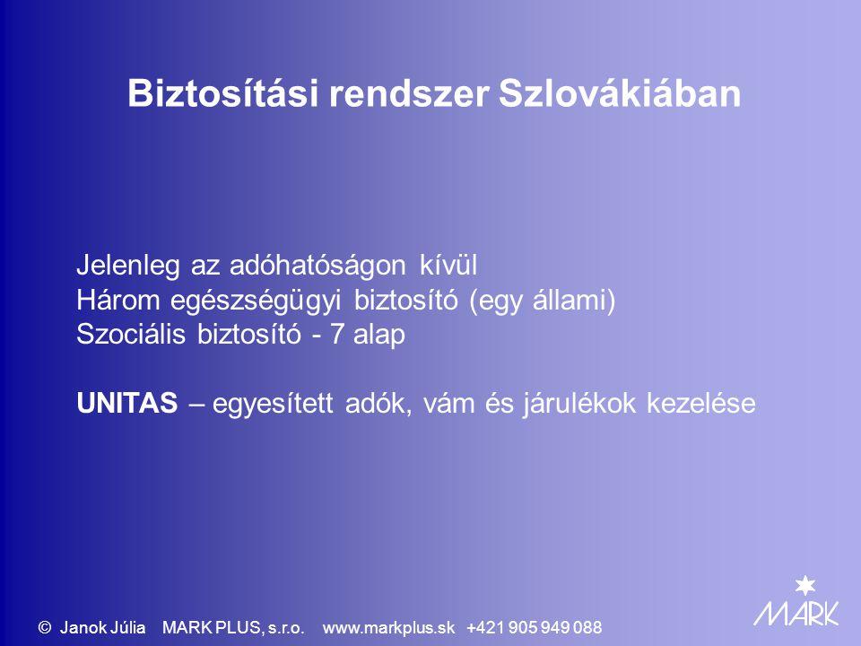 Biztosítási rendszer Szlovákiában