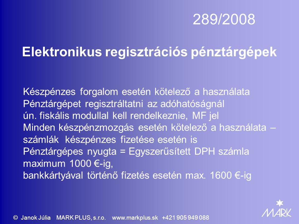 Elektronikus regisztrációs pénztárgépek