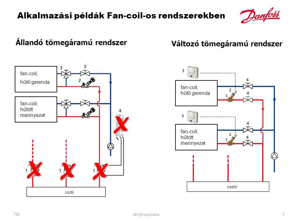 Alkalmazási példák Fan-coil-os rendszerekben