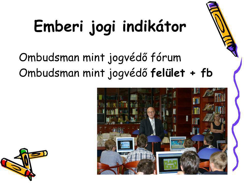 Emberi jogi indikátor Ombudsman mint jogvédő fórum