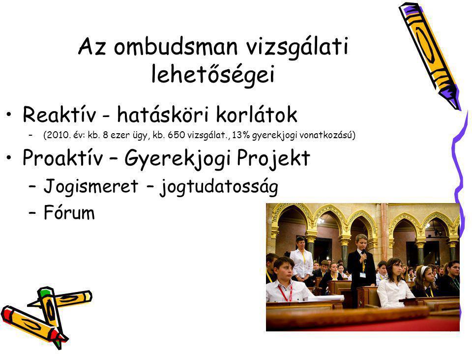 Az ombudsman vizsgálati lehetőségei