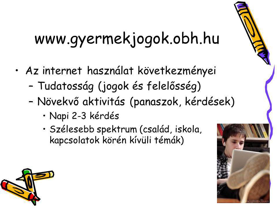 www.gyermekjogok.obh.hu Az internet használat következményei