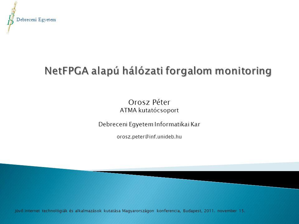 NetFPGA alapú hálózati forgalom monitoring