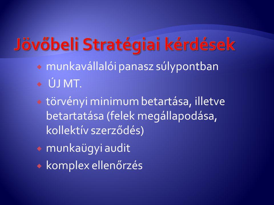 Jövőbeli Stratégiai kérdések