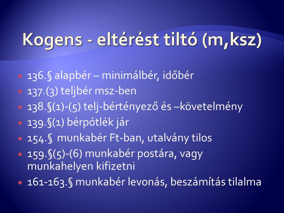 Kogens - eltérést tiltó (m,ksz)