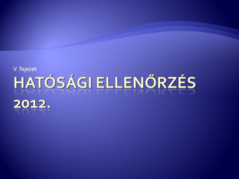 V. fejezet Hatósági ellenőrzés 2012.