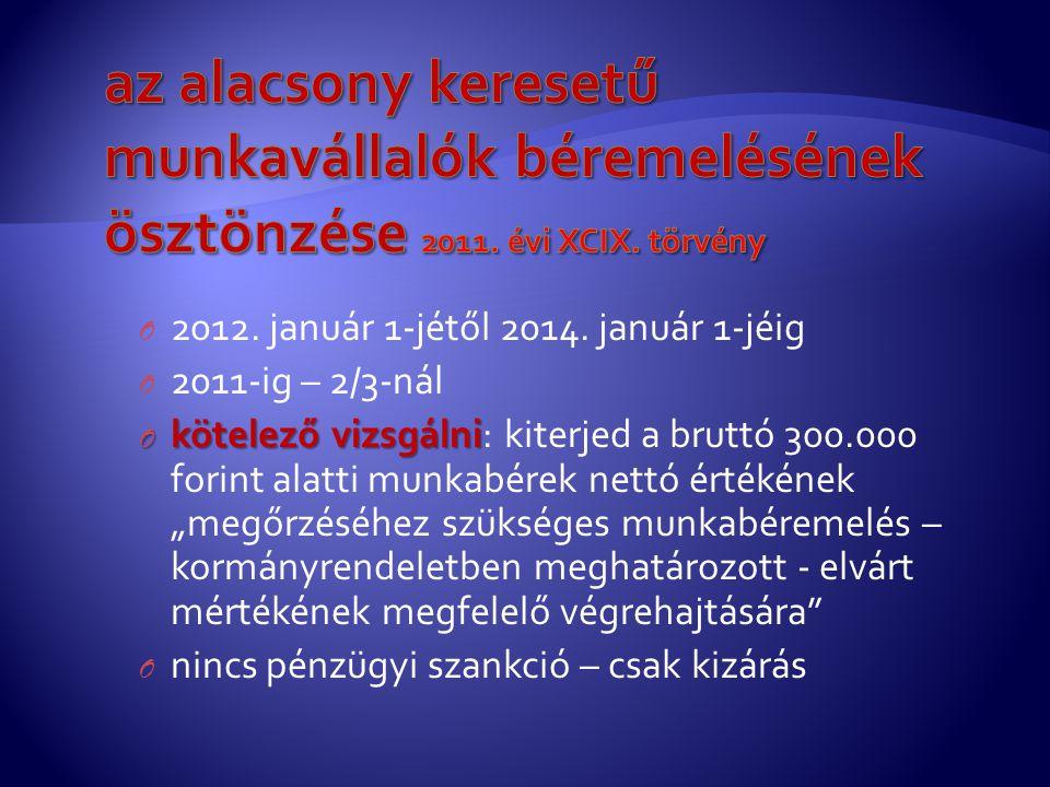 az alacsony keresetű munkavállalók béremelésének ösztönzése 2011