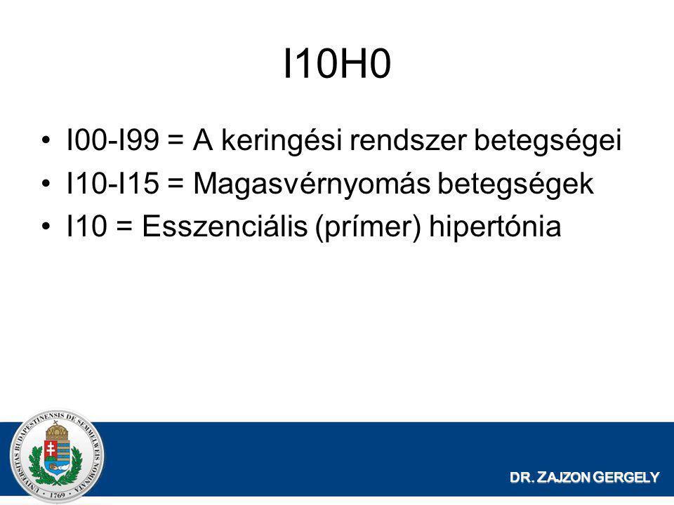 I10H0 I00-I99 = A keringési rendszer betegségei