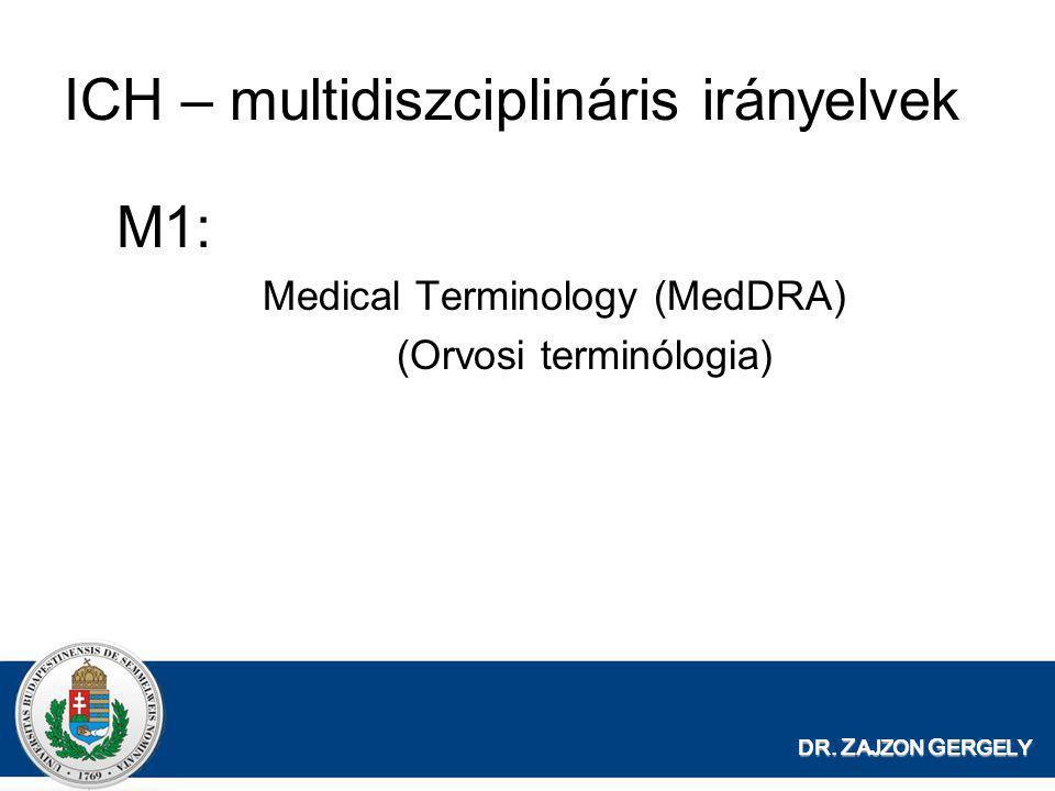 ICH – multidiszciplináris irányelvek