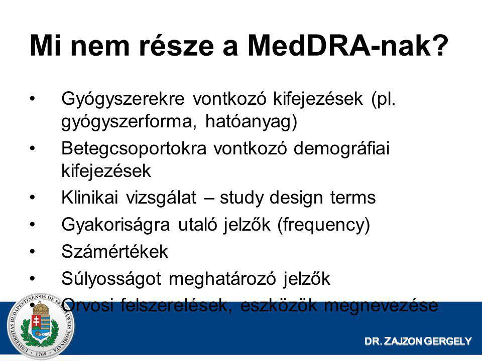Mi nem része a MedDRA-nak