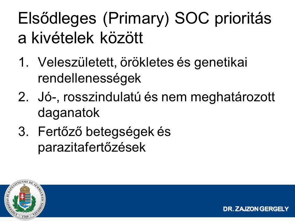 Elsődleges (Primary) SOC prioritás a kivételek között