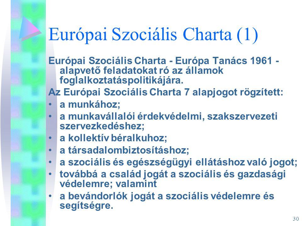 Európai Szociális Charta (1)