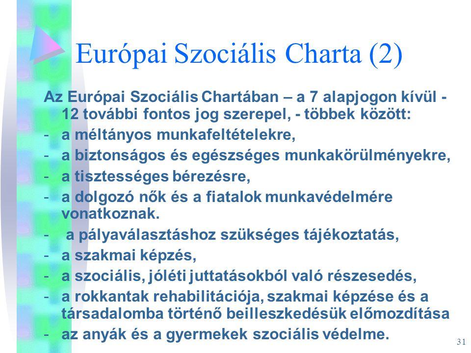 Európai Szociális Charta (2)