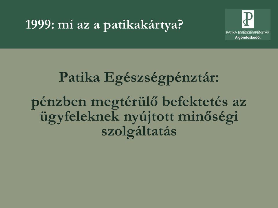 Patika Egészségpénztár:
