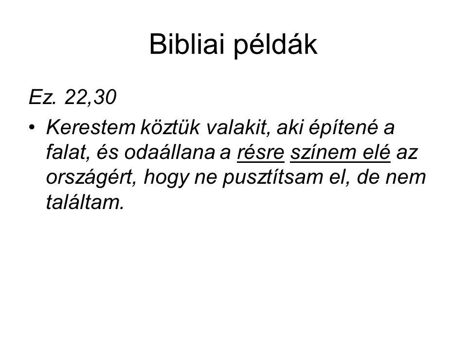 Bibliai példák Ez. 22,30.