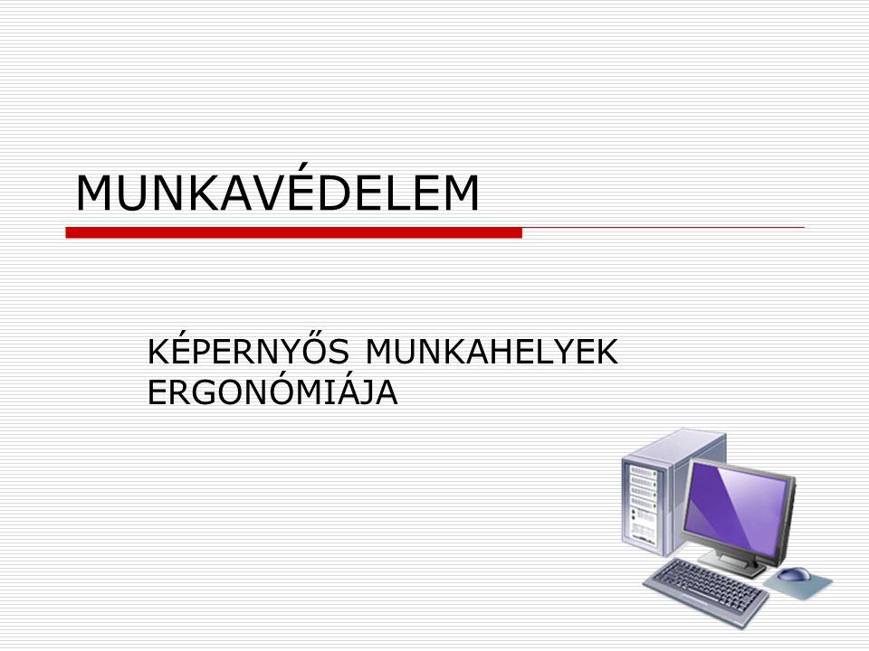 KÉPERNYŐS MUNKAHELYEK ERGONÓMIÁJA