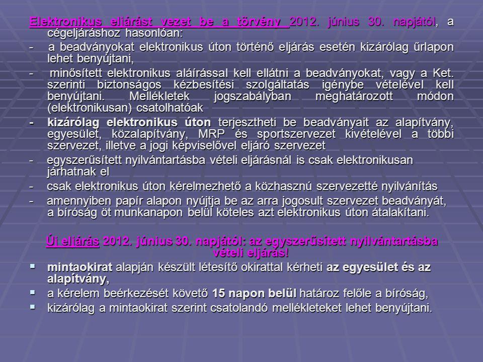 Elektronikus eljárást vezet be a törvény 2012. június 30