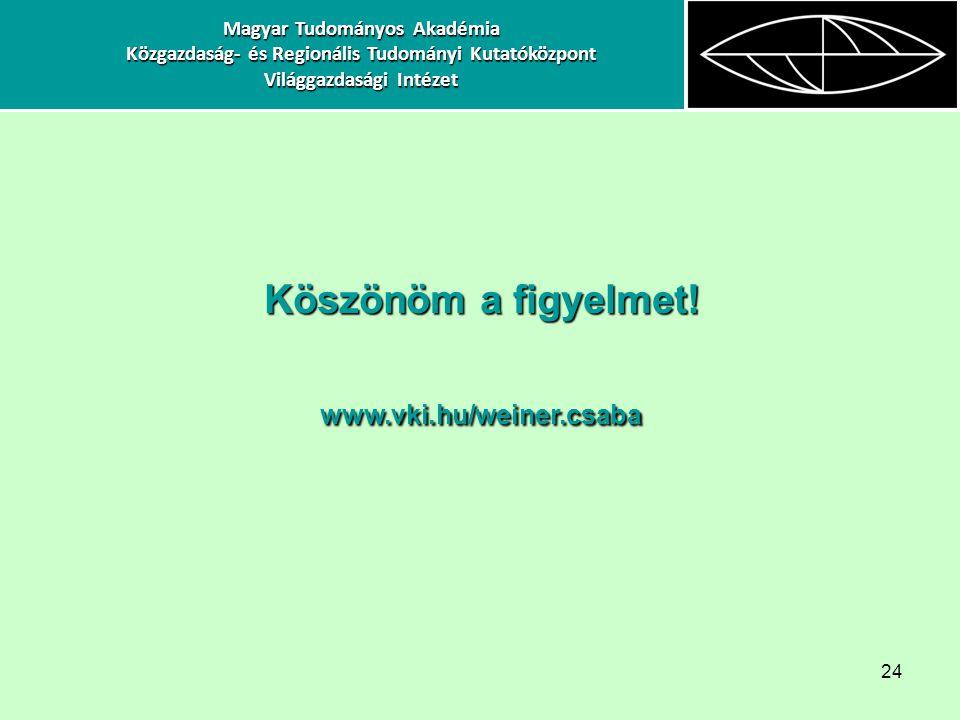 Magyar Tudományos Akadémia Világgazdasági Intézet