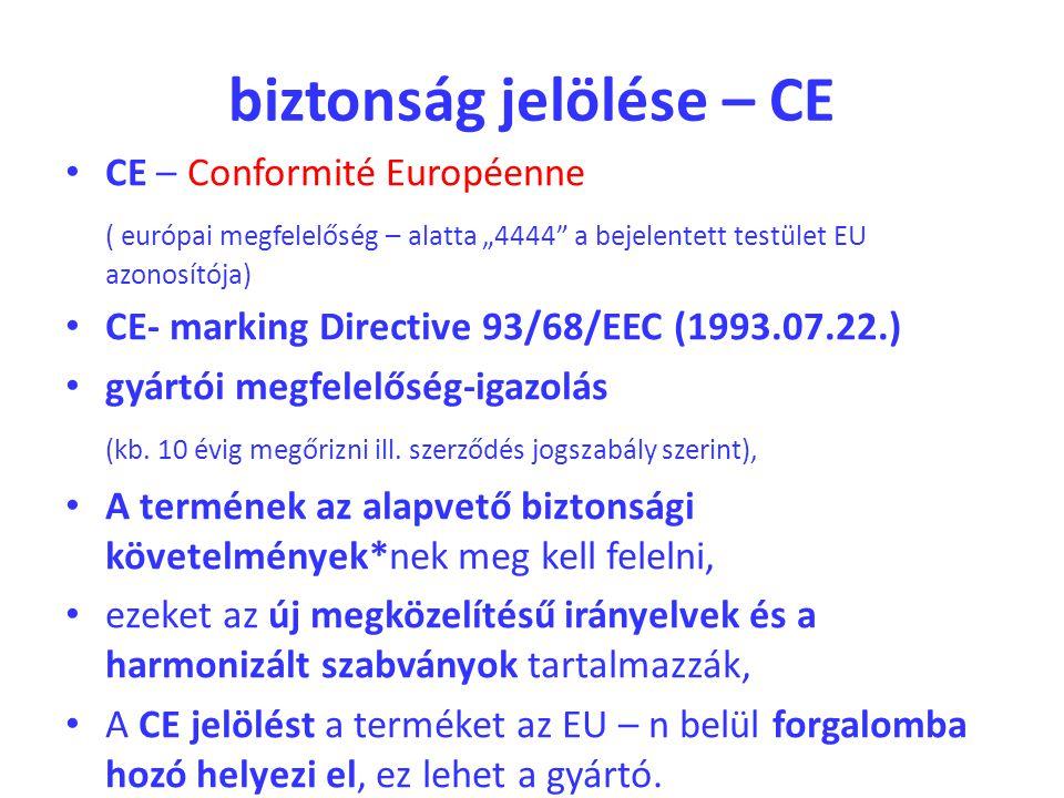 biztonság jelölése – CE