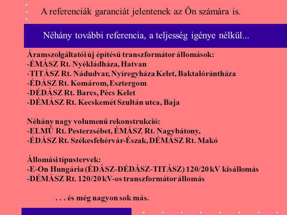 A referenciák garanciát jelentenek az Ön számára is.