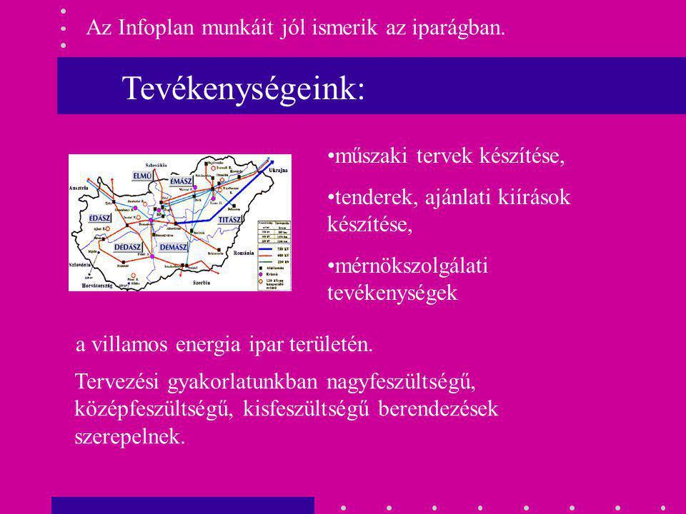 Tevékenységeink: Az Infoplan munkáit jól ismerik az iparágban.