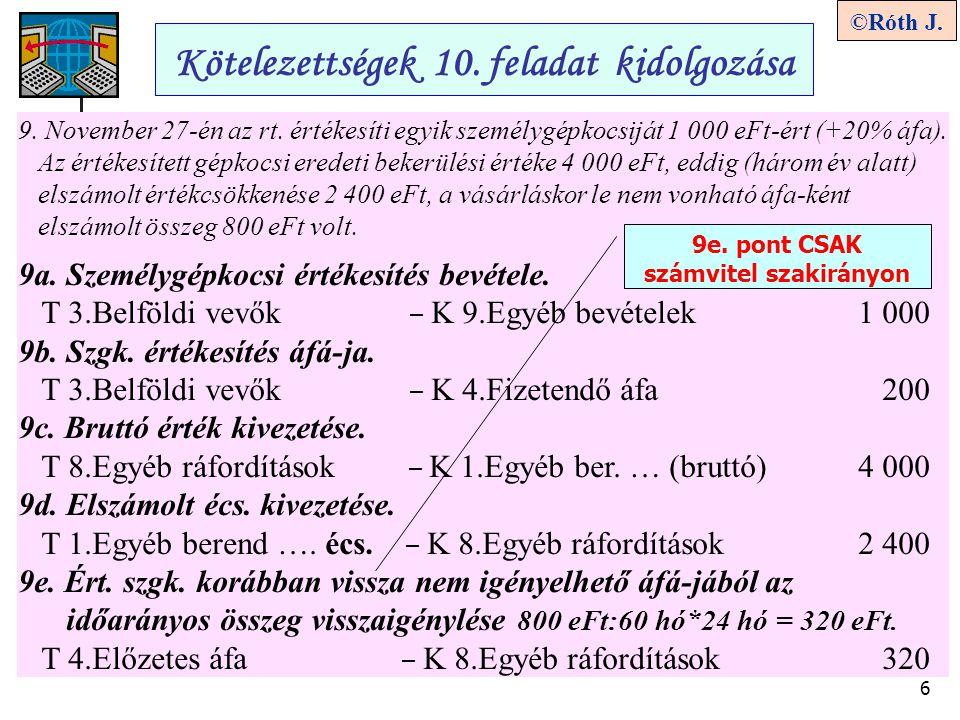 9e. pont CSAK számvitel szakirányon