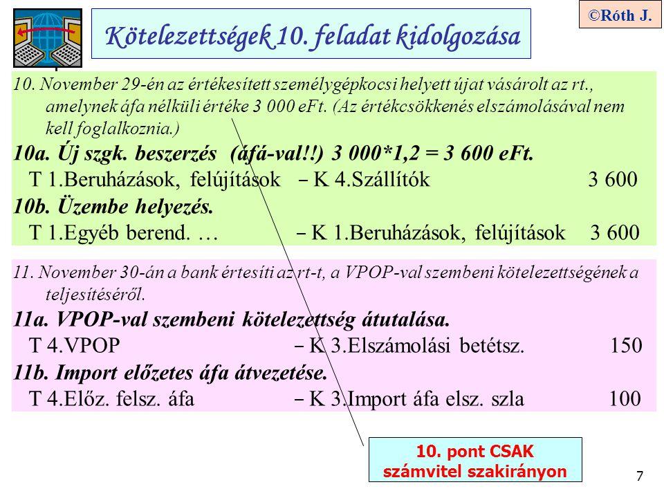10. pont CSAK számvitel szakirányon