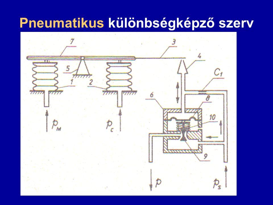 Pneumatikus különbségképző szerv