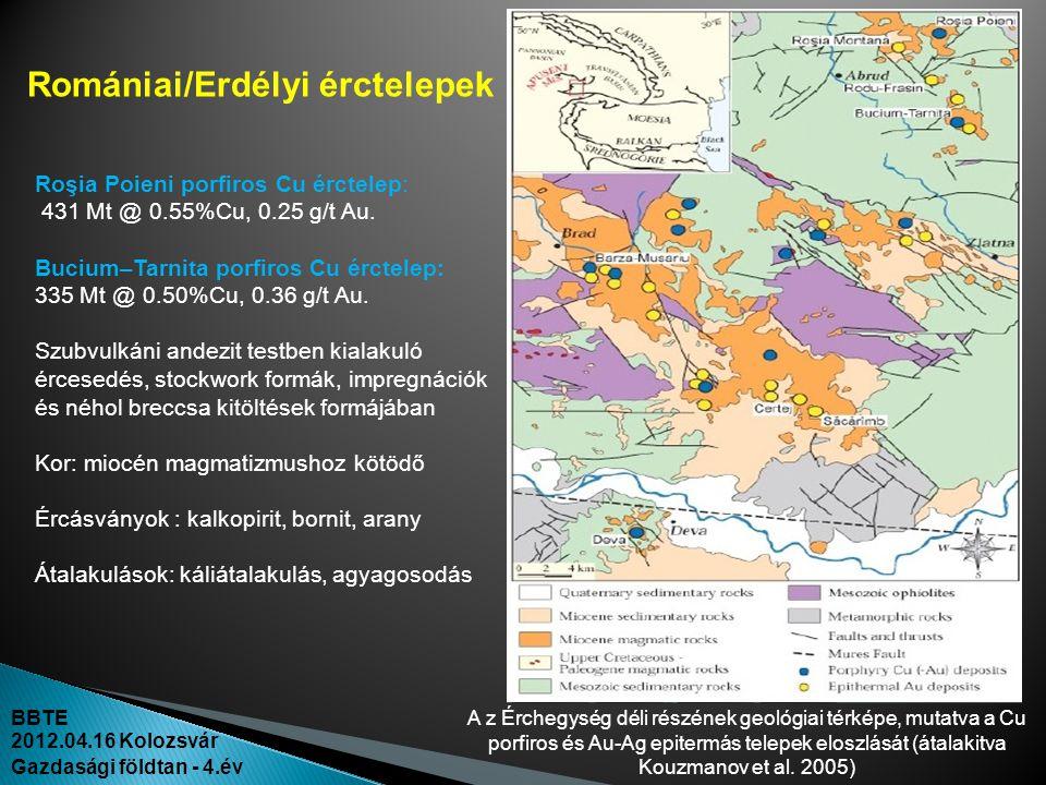 Romániai/Erdélyi érctelepek