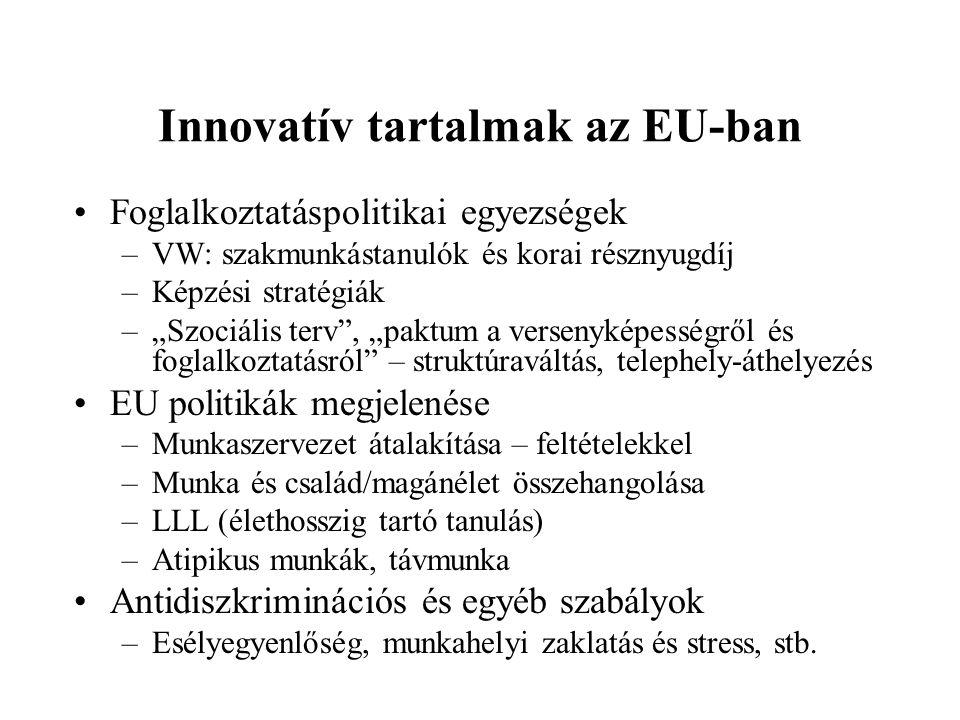 Innovatív tartalmak az EU-ban