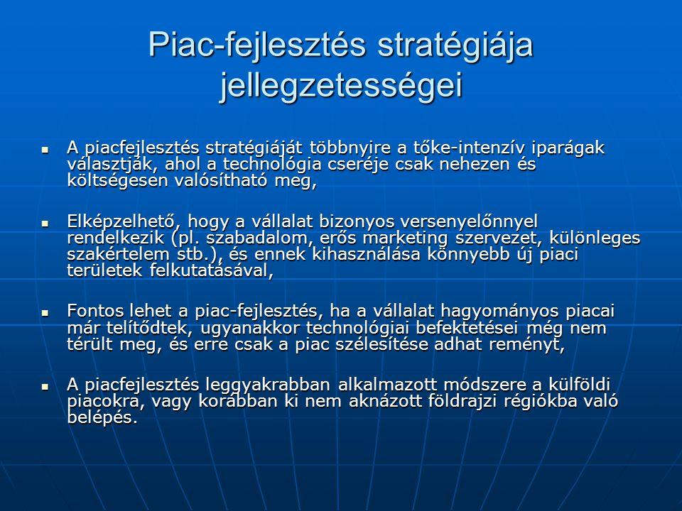 Piac-fejlesztés stratégiája jellegzetességei