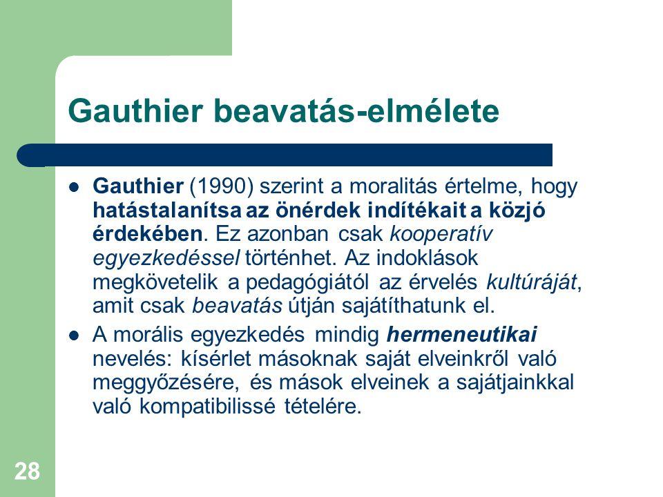 Gauthier beavatás-elmélete