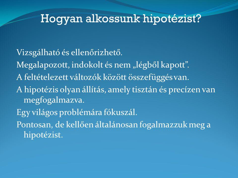 Hogyan alkossunk hipotézist