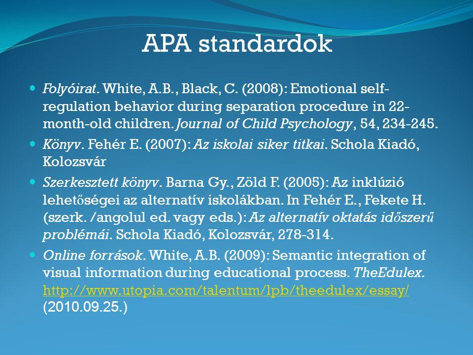 APA standardok