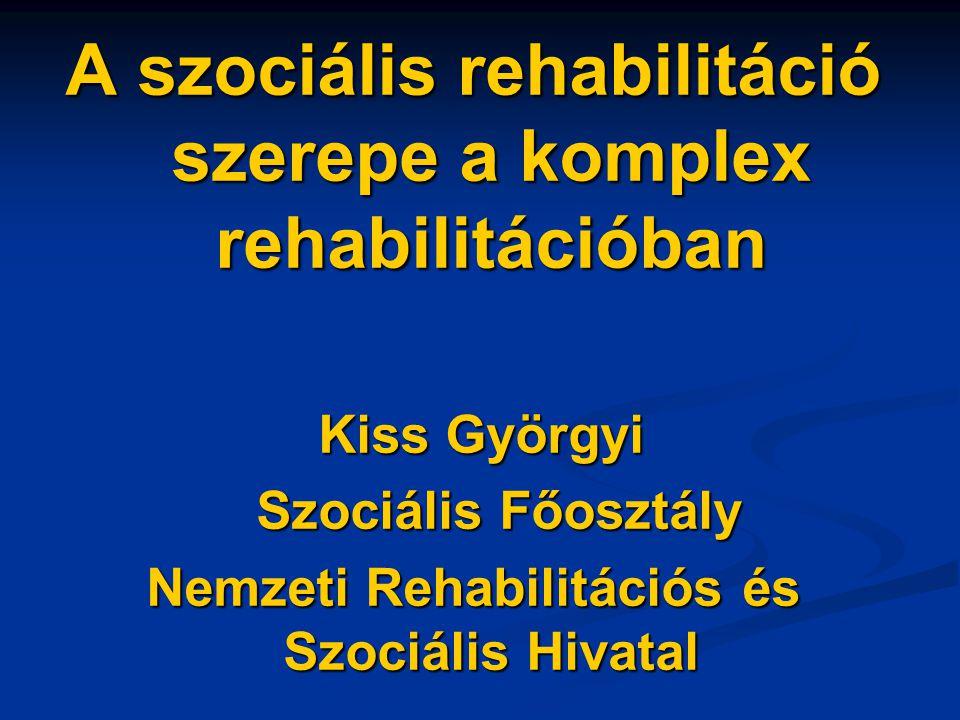 A szociális rehabilitáció szerepe a komplex rehabilitációban